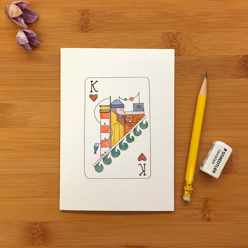 【LITTLE DIFFERENCE】KING FISHERMAN GREETING CARD
