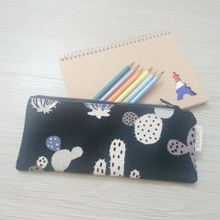 Pencil case stationery cotton linen pen bag tool bag storage bag cactus