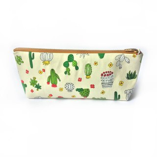 筆袋/化妝袋 Cactus Pencil Case- Zipper Pouch- Cute Japanese Cotton