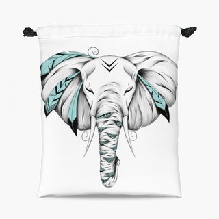 Drawstring Pouch - Poetic Elephant