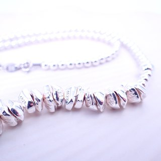 N10002 Stones Silver 925 Necklace