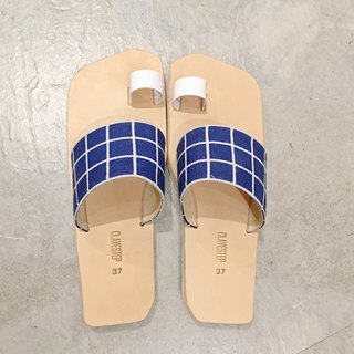 CLAVESTEP I Sandals - Leather Sandals blue/whit