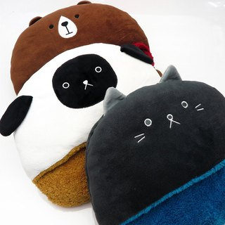 Spring blessing bag 5 kinds of warm once own mignon animal friend warm series warm foot mat / warm handbag / eye mask bag / scarf / aprons pillow SHF