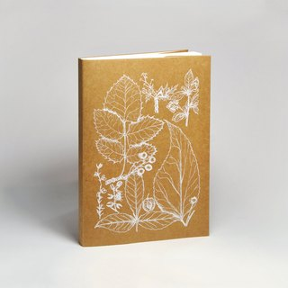 Blank sketch paper notebook | flowers and plants series 1 white (hand-serigraphy)