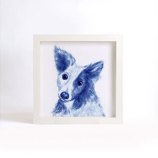 """Visit"" blue copy painting series - Dog (without box)"