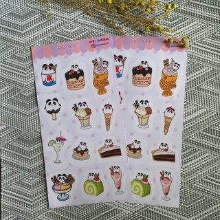 Cute panda and paper stickers[Sweets]