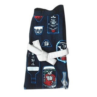 Pet kimono cat and dog universal bathrobe blue wine 2L