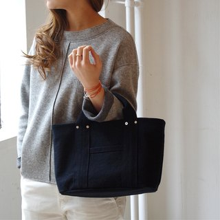 Kurashiki canvas mini tote - Handsome black