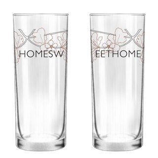 Home Sweet Home Glass Set of 2 by Human Touch