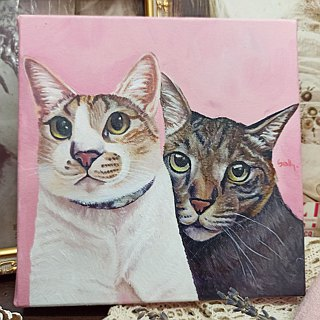 Custom pet oil portrait