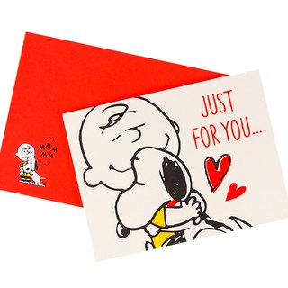 Snoopy I like to hug you best [Hallmark-Peanuts - Snoopy - Stereo Card Multipurpose]
