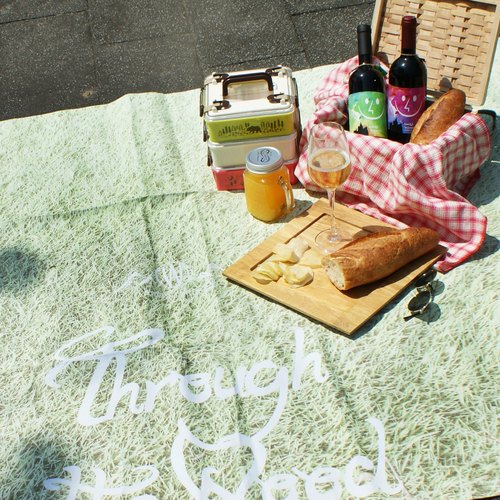 [DESTINO STYLE] Japanese natural wind green shoulder bag picnic mat (large)