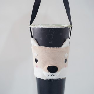 Bucute Shiba Dog three-dimensional environmental protection beverage bag / beverage cup / green cup / bag / ultra popular / hand-made