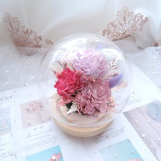 [Pink Love Spring] Dry Flower Night Light / New Home Gift / Housewarming / Valentine's Day Gift / Birthday Gift