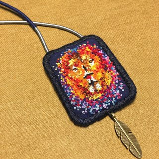 Leo——Original hand embroidered Necklace