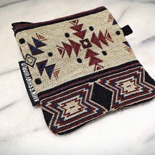AMIN'S SHINY WORLD hand-made ethnic style weaving small change bag f