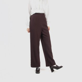 [Egg plant ancient] time travel wool straight ancient pants