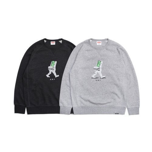 A.N.YBEARS x FILTER017 Weird Hand Bear Crewneck Sweatshirt 怪怪手小熊大學Tee