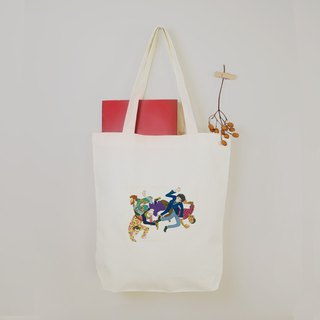 [Dancing Life] The swing man canvas tote bag