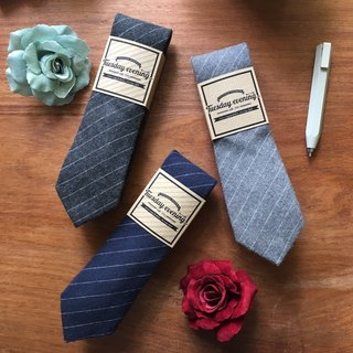 Neck tie Stripe Dark grey/ Blue/ Grey