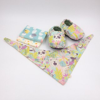 Tropical Rainforest - Miyue Baby Gift Box (toddler shoes / baby shoes / baby shoes + 2 handkerchief + scarf)