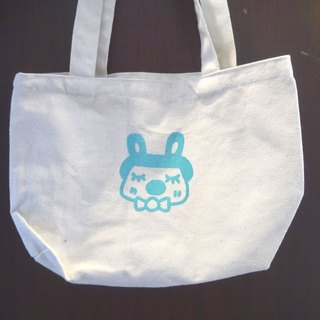 | Made in Taiwan ● manual serigraphy | blue-green small bag