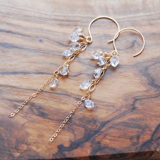HYKIMER Diamond Crystal Earrings from NY no.1 14 kgf