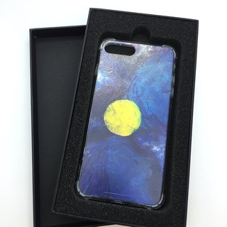 Warm moon illustration anti-fall dual mobile phone shell