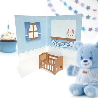 New Baby Card | Baby Pop Up Card | Baby Birthday Card