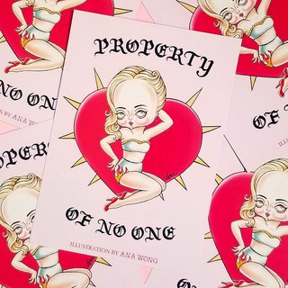 Property of no one postcard