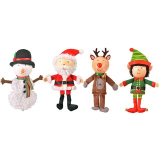 [UK Fiesta moving hands +] creative play Christmas Limited group (Santa snowman + + + elk elf) Creative fingers even Toys (iv enrolled)