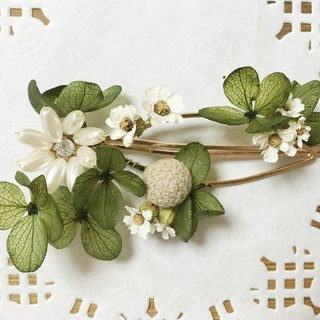 Étoile Star (White Green) Not Withered Flower Hair Clip Hair Accessories