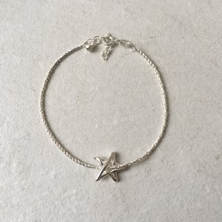 Green Rivor Teeny Tiny 925 Silver Stick Star Bracelet