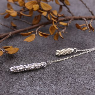 Norfolk Island Pine Leaf Silver Necklace - Nature Plant