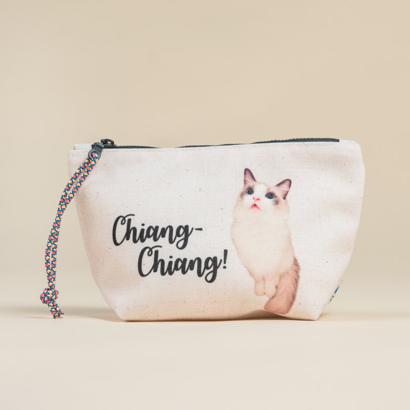 Customized handmade pet stereo storage bag cosmetic bag