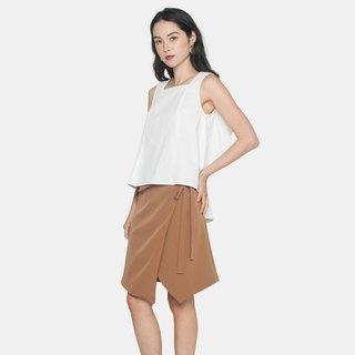 Ribbon Wrapped Skirt (Brown)