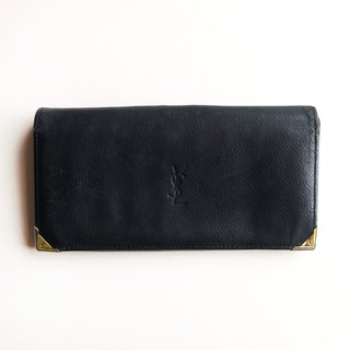 A ROOM MODEL - VINTAGE, BD-0596 YSL long dark blue folder