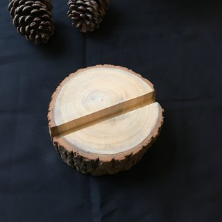 Camphor Wood Wooden Name Card  Mobile Stand 【L】A