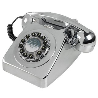 SUSS-UK imports 1950s 746 series retro classic phone / industrial style (sparkling silver)