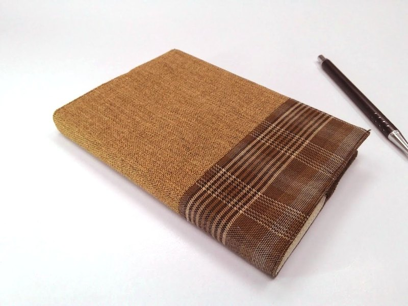 Exquisite A6 cloth book clothing ~ khaki brown (single product) B04-035