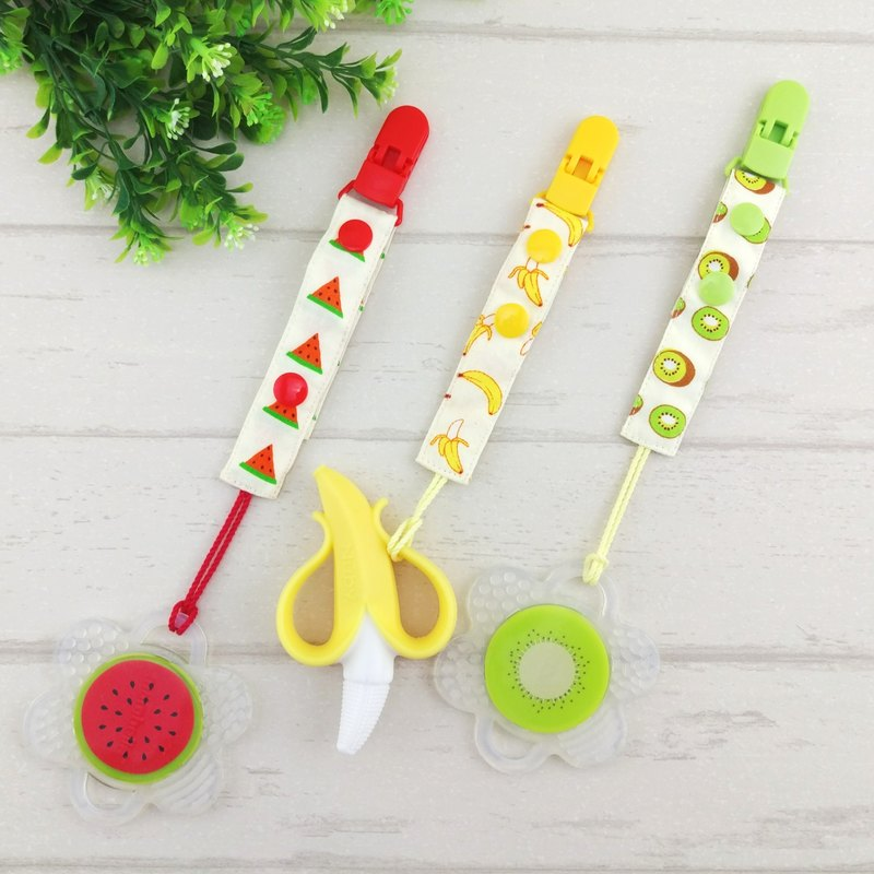 Fruit Party-5 is available. 2-stage length manual pacifier chain (for vanilla nipples)