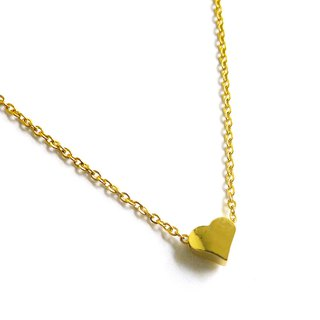 Ficelle | handmade brass natural stone necklace | [Love] Brass 18K gold clavicle chain