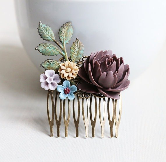 April Fangfei retro garden comb hair accessories