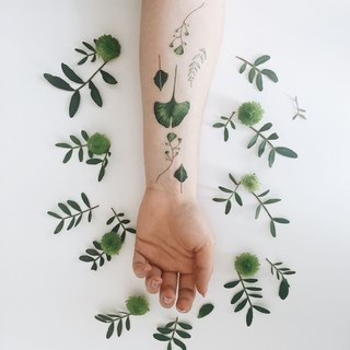 ::Metallic Temporary Tattoo::  Ginkgo leaves  2set Original Design | PAPERSELF