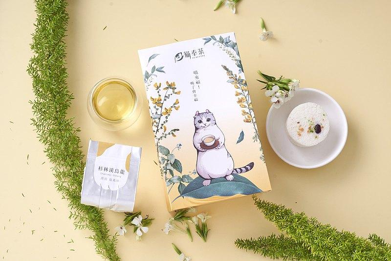 【Teaffiny貓奉茶】午茶懶貓(杉林溪高山烏龍)