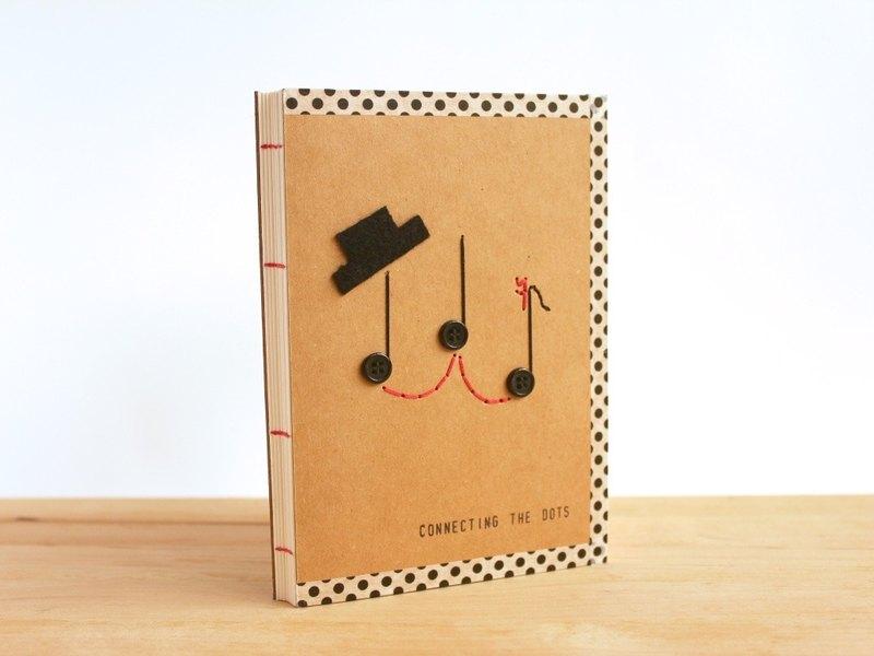 手工A6筆記本 - Mr & Ms Note (手工縫製小本子)