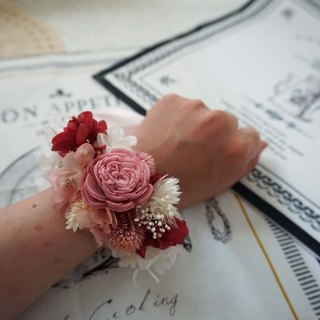 Happy wedding - dry not withered bridesmaid wrist flower*exchange gift*Valentine's Day*wedding*birthday gift