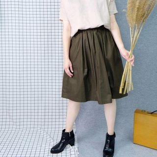 hikidashi double-sided wear round skirt - army green