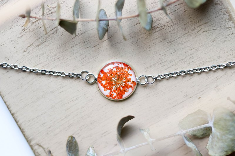 Ammi majus (Orange, BG-White) – Bracelet