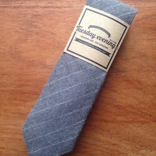 Neck Tie Grey Stripe